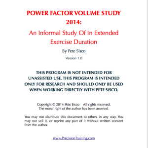 Power Factor Volume Study