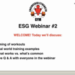 Webinar #2 – Scheduling Your Workouts