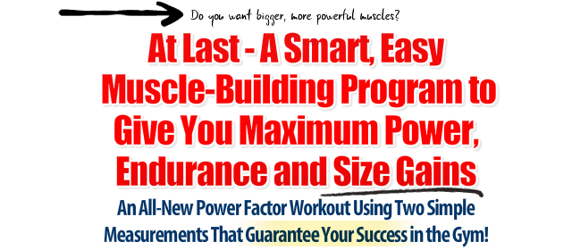 Power Factor Workout - Power, Endurance & Size Gains edition