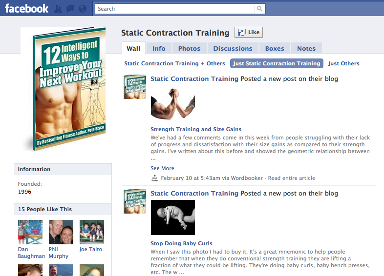 Static Contraction on Facebook