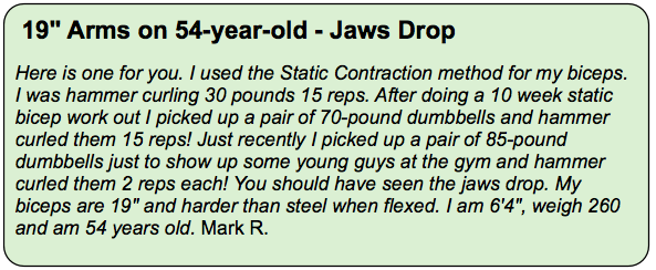Static Contraction Testimonial